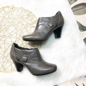 Clarks Ankle Heeled booties
